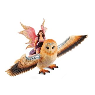 Fairy In Flight On Glam-Owl (Schleich 70713) Playset | LeVida Toys