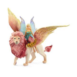 Fairy in Flight on Winged Lion - Bayala Figure | LeVida Toys