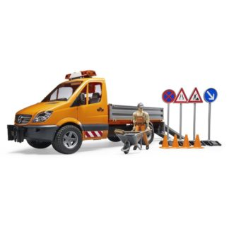 Bruder MB Sprinter Municipal Vehicle with Figure and Accessories