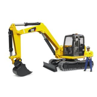 Caterpillar Mini Excavator with Worker | LeVida Toys