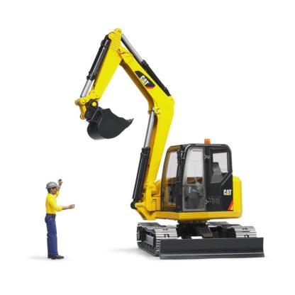 Caterpillar Mini Excavator with Worker   LeVida Toys