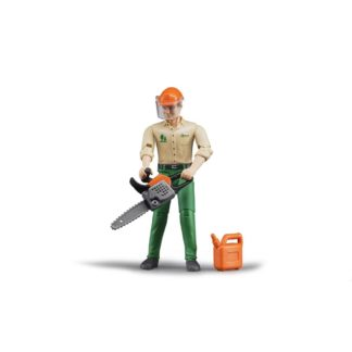 Bruder Forestry Worker with Accessories | LeVida Toys
