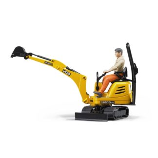 Bruder JCB Micro Excavator 8010 CTS and Worker | LeVida Toys
