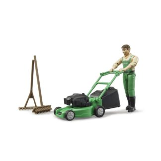 Bruder Gardener with Lawnmower and Equipment | LeVida Toys