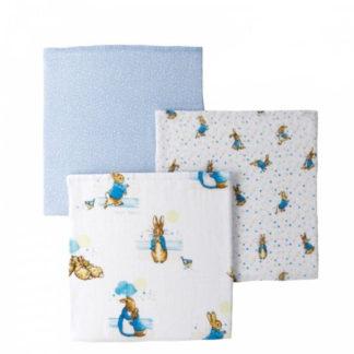 Set of 3 Peter Rabbit Muslin Squares | LeVida Toys