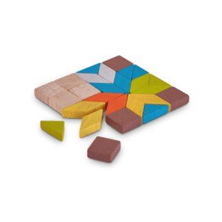 Plan Toys Mosaic - 26 Piece Colourful Wooden Toy   LeVida Toys
