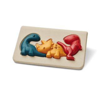 Plan Toys Dino Puzzle - 3 piece wooden puzzle | LeVida Toys