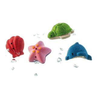 Plan Toys Sea Life Bath Set - 4 wooden bath toys! | LeVida Toys