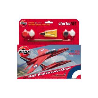 RAF Red Arrows Gnat - Airfix Small Starter Set | LeVida Toys