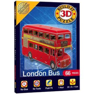 London Bus Build-It 3D Puzzle | LeVida Toys