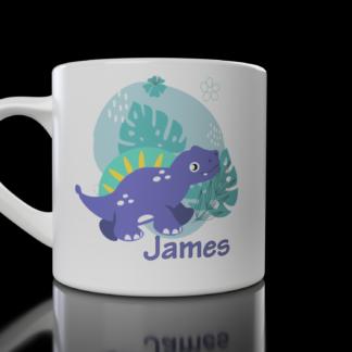 Kids Dinosaur Mug (Design 2) - Customisable with your name | LeVida Toys