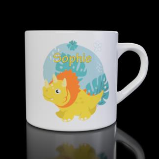 Kids Dinosaur Mug (Design 4) - Customisable with your name | LeVida Toys