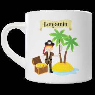 Kids Pirate Child 2 Mug - Customisable with your name | LeVida Toys